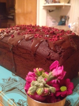 Chocolate and raspberry loaf